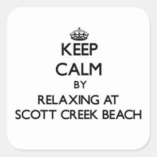 Mantenha a calma relaxando na praia Califor da Adesivos Quadrados