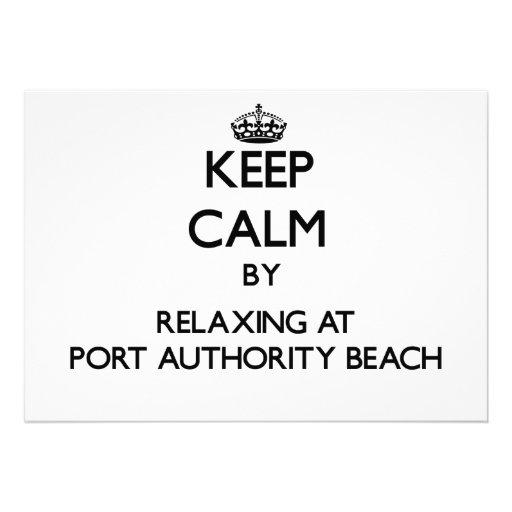 Mantenha a calma relaxando na praia Guam da autori Convites Personalizados