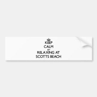 Mantenha a calma relaxando na praia New York de Sc Adesivos