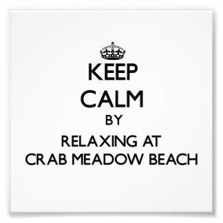 Mantenha a calma relaxando na praia Yor novo do pr Impressão De Fotos