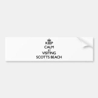 Mantenha a calma visitando a praia New York de Sco Adesivos
