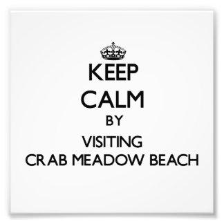 Mantenha a calma visitando a praia New York do pra Fotografias