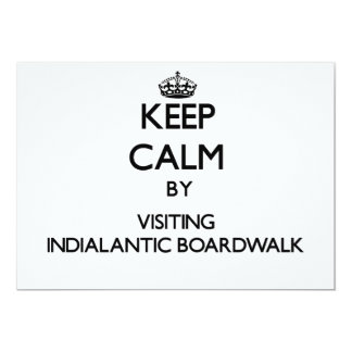 Mantenha a calma visitando o passeio à beira mar convite personalizado