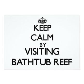 Mantenha a calma visitando o recife Florida da Convite