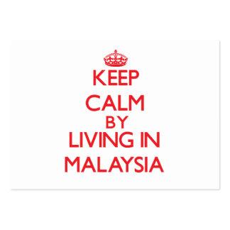 Mantenha a calma vivendo em Malaysia Modelo Cartoes De Visitas