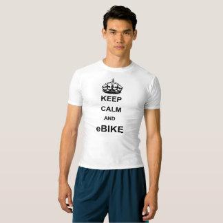 """""""Mantenha a camisa ativa da calma e do ebike"""" para"""