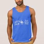Mantenha a camisa de pólo aquático da calma & do j t-shirt