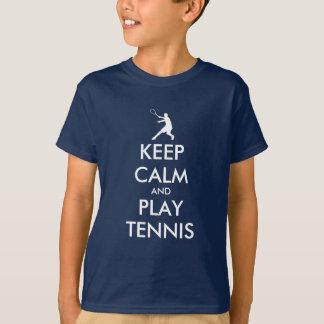Mantenha a camisa do tênis t da calma e do jogo