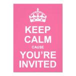 Mantenha a causa que calma você é o doce convidado convites personalizado