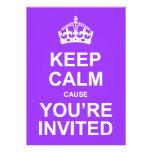 Mantenha a causa que calma você é Quinceañera conv Convite Personalizado