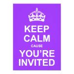 Mantenha a causa que calma você é Quinceañera Convite Personalizado