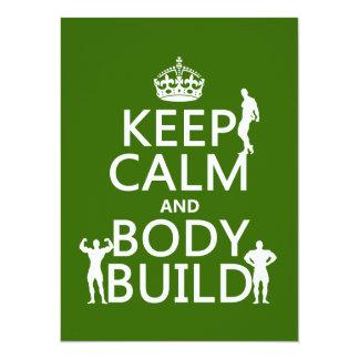 Mantenha a construção da calma e de corpo convite personalizado