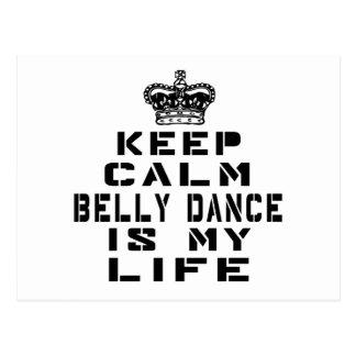 Mantenha a dança do ventre calma é minha vida cartão postal