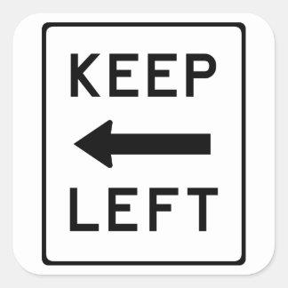 Mantenha à esquerda: Etiqueta política Democrática