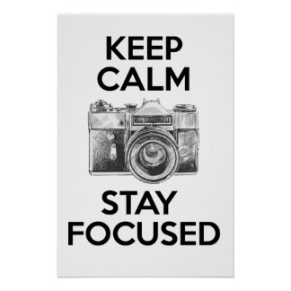 Mantenha a estada calma focalizada poster