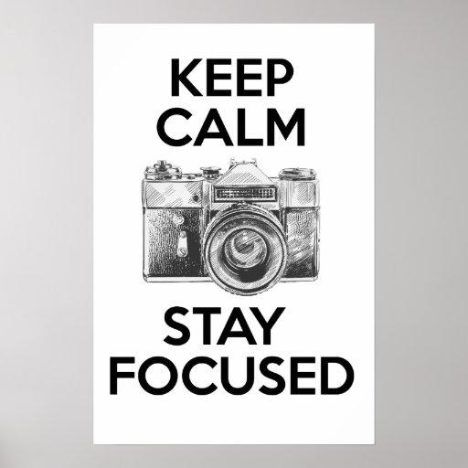 Mantenha a estada calma focalizada posters