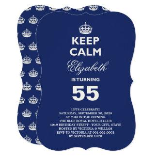 Mantenha a festa de aniversário engraçada calma do convite 12.7 x 17.78cm
