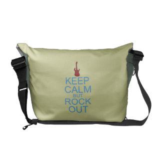 Mantenha a paródia calma da rocha para fora - -- bolsas mensageiro
