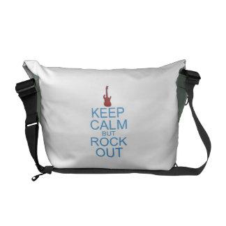 Mantenha a rocha calma para fora - paródia - bolsa mensageiro