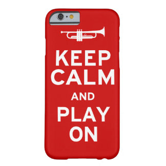 Mantenha a trombeta calma capa barely there para iPhone 6