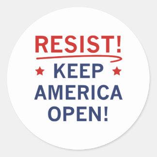 Mantenha América aberta Adesivo