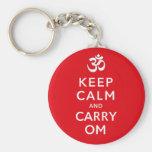 Mantenha anel chave inspirador calmo e do carregar chaveiros