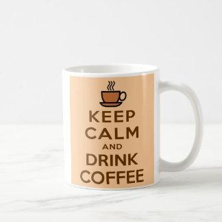 Mantenha café calmo e da bebida - caneca especial