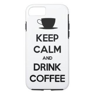 Mantenha café calmo e da bebida capa iPhone 7
