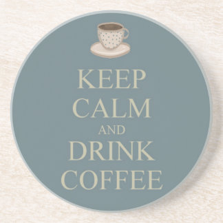 Mantenha café calmo e da bebida porta copos de arenito