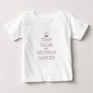 Mantenha calmo & destrua o cancer 2 camiseta para bebê