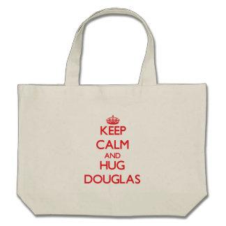Mantenha calmo e ABRAÇO Douglas Bolsa Para Compras
