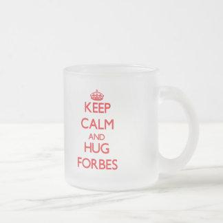 Mantenha calmo e abraço Forbes Caneca