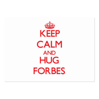 Mantenha calmo e abraço Forbes Modelo De Cartões De Visita