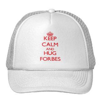 Mantenha calmo e abraço Forbes Bone