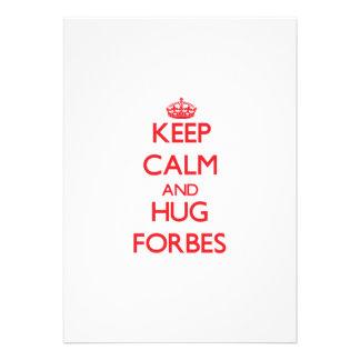 Mantenha calmo e abraço Forbes Convites Personalizados