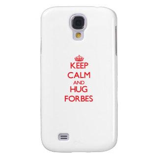 Mantenha calmo e abraço Forbes Galaxy S4 Cover