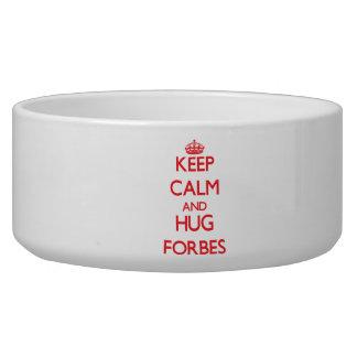 Mantenha calmo e abraço Forbes Tijelas Para Água Para Cachorros