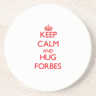 Mantenha calmo e abraço Forbes Porta-copo