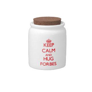 Mantenha calmo e abraço Forbes Potes De Doces