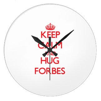 Mantenha calmo e abraço Forbes Relógio De Parede