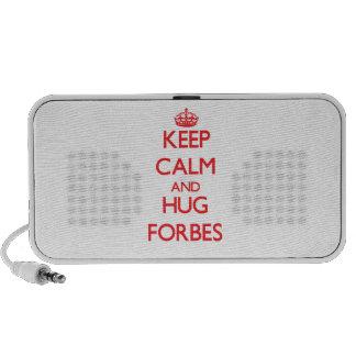 Mantenha calmo e abraço Forbes Caixinha De Som Para iPod
