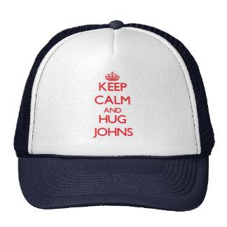 Mantenha calmo e abraço Johns Bone