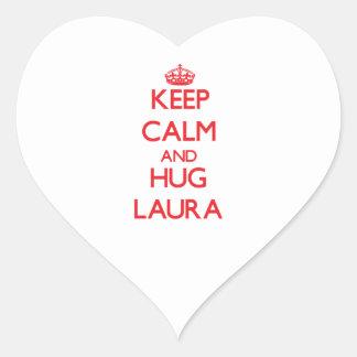 Mantenha calmo e abraço Laura Adesivos