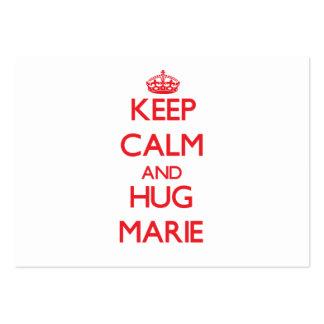 Mantenha calmo e abraço Marie Modelo De Cartões De Visita