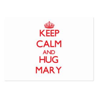 Mantenha calmo e ABRAÇO Mary Modelos Cartoes De Visitas
