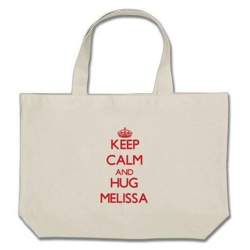 Mantenha calmo e abraço Melissa Bolsa