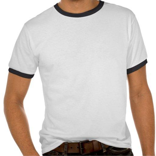 Mantenha calmo e abraço Pena Camisetas