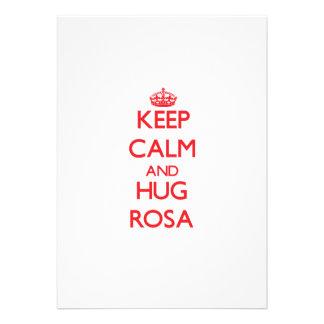 Mantenha calmo e abraço Rosa Convites Personalizado
