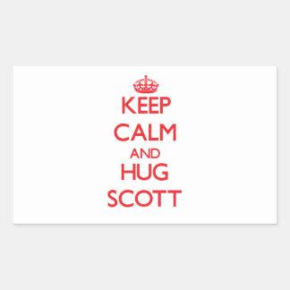 Mantenha calmo e abraço Scott Adesivos Em Forma Retangular