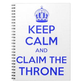 Mantenha calmo e acalme o caderno do trono - 1066